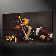 Scary Clown Photo Canvas Print Picture Wall Art Free Fast Delivery
