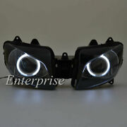 Projector Headlight Assembly Hid White Angel Eye Halo For Yamaha Yzf R1 98-99