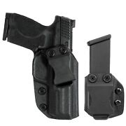 Smith And Wesson Mp9 Mp40 4.25and039and039 Iwb Kydex Holster And Magazine Pouch Combo