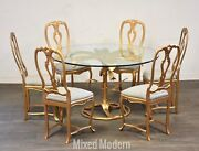 Arthur Court Tiger Lily Dining Table And Chairs
