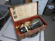 Vintage Acme Chin Canister Type Full Vision Face Piece Gas Mask No. 6 15-ov-f
