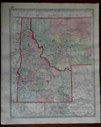 Idaho And Montana Or Montana And Wyoming 1892 Tunison Double Sided Map