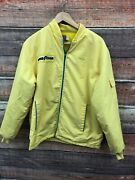 Vintage Goodyear Yellow Cotton Polyester Official Racing Jacket Coat Patches