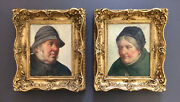 David Haddon Fl.1884-1911antique Oil Fisherman And His Wife A Pair Of Portraits
