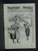 Harper's Weekly Cover Page Aa721 The Ant And The Grasshopper-dec 1883