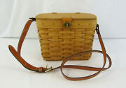 Longaberger 1996 Small Purse Basket, Liner And Protector With 6 Family Signatures