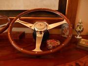 Bentley Turbo R Wood Steering Wheel 1985 - 89 Rivets 15 Nardi Ivory Horn Button