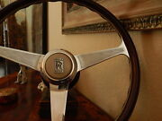 Rolls Royce Silver Spirit Silver Spur 1980 89 Wood Steering Wheel Dark Nardi New