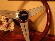Bentley Turbo R Wood Steering Wheel 1985 89 Stronger Frame + Rim E.u D.o.t. New