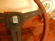 Rolls Royce Silver Shadow 1 Wood Steering Wheel Thicker Rim E.u. D.o.t. New