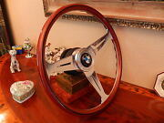 Bmw E24 630 635 Cs Csi Wood Steering Wheel 1976-1984 Nardi 15.3 Hub Horn Button