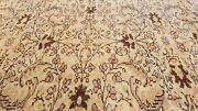 Rare Antique 1940-1950and039s Distressed Wool Pile Muted Dye Oushak Area Rug 7x10ft