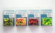 50 New Painted Shad Dart Jigheads 1/8 Oz Fishing Hooks Lures Bait Tackles