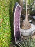 Giant Amethyst Cathedral Crystal Cluster Geode 88.18 Lbs | 45.27 Inches Perfect
