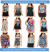 Le Cove Various Swim Dress And Suits Misses And Plus Size 10-24 Brand New W/tags