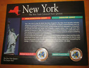 New York State Colorized State Quarters Set Of Two American Historical Society
