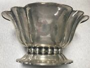European Antique Silver Scalloped Edged Bowl 800 Stamped