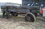 Vintage See Note Dodge Bros And White Motor Co Truck Wheels Farm Wagon Antique