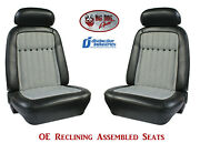 Fully Assembled Seats 1969 Camaro Deluxe Oe Style Reclining - Any Houndstooth