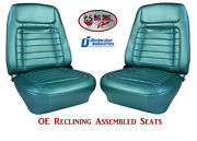 Fully Assembled Seats 1968 Camaro Deluxe Oe Reclining - Your Choice Of Color