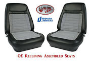 Fully Assembled Seats 1968 Camaro Deluxe Oe Reclining - Any Houndstooth