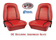 Fully Assembled Seats 1967 Camaro Deluxe Oe Reclining - Any Color