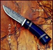 Handmade Collectible Knife Straight Blade Fixed Tactical Combat Rescue Survival