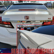 2012 2013 2014 2015 Honda Civic 4d Si Factory Style Spoiler Wing W/led Unpainted