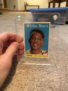 1958 Topps Willie Mays San Francisco Giants 5 Baseball Card In Case