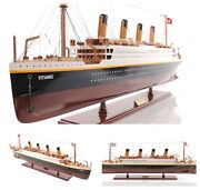 25 Titanic Wooden Replica Model Collectible Painted Cruise Ship Ocean Liner New