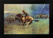 Framed Art - The Stampede - Remington, Frederic - W/frame Size And Styles