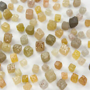 Natural Loose Diamond Mix Rough Undrilled Cube Gray Yellow Color 2.00 Ct Lot J22