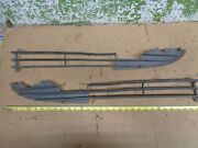 1980 Mercedes 450sl R107 Left And Right Lower Grille Molding Trim 1977 1979 Oem