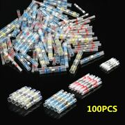 100pcs 4 Size Soldering Heat Shrink Butt Terminals Electrical Cable Wire