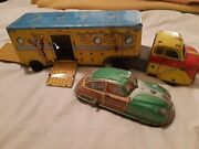 Vintage Roy Rogers Truck And Marx Family Vacation Wagon Wind Up