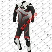 Buell Motorcycle Motorbike Racing Leather Suit With Ce Armor Red View