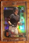 2016 Bryan Reynolds Rc Bowman Chrome Gold Refractor/50 Pirates Rookie Centered