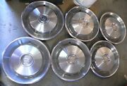 1966-67 Cadillac El Dorado And Other Makes Hub Caps With Air Slits Set Of 6 Used