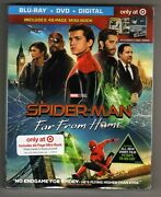 Spiderman Far From Home Blu Ray / Dvd / Digital Target Version Brand New