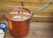 Rare Antique Gaillard Copper Vintage French Sauce Pan Dovetailed Seams With Lid