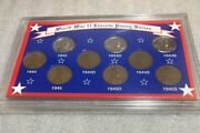 1943 1944 1945 World War Ii Lincoln Penny Series Coins - 9 Coins