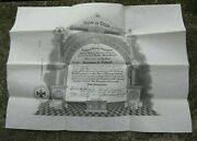 Vintage 1948 Masonic 32nd Degree Certificate And Case- Named- Williamsport Pa