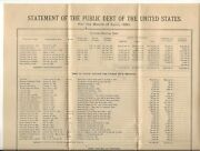 1880 Us Treasury Dept Report Broadside On The Public Debt Of The Usa