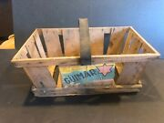Rare Canary Islands Produce Tomatoes Basket Crate Primitive Wood Wooden