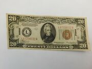 1934 A 20.00 United States Hawaii Note Currency Crisp