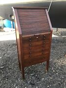 Antique Mahogany Apothecary Optical Shop Barrister Cabinet Colonial Mfg 53x25x14