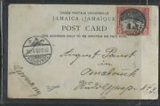 Jamaica Cover P1102b 1903 Waterfalls 1d Ppc Kingston To Germany