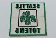Seattle Totems Whl Hockey Decal Sticker Nhl Rare 60s 70s Vintage Unused