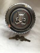 Vintage Space Age Martian Themed Locking Gas Cap With Original Keys Working