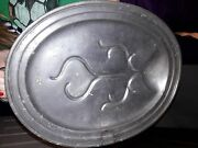 Shaw And Fisher 19th C. Sheffield Double Handled Pewter Carving Platter